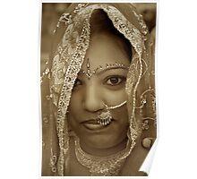 Varanasi Bride in Sepia Poster