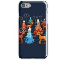 Happy Christmas Trees iPhone Case/Skin