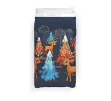 Happy Christmas Trees Duvet Cover
