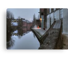 Canalside by Weavers Wharf Canvas Print