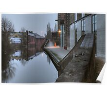 Canalside by Weavers Wharf Poster
