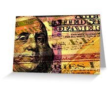 Double exposure finance and government concept Greeting Card