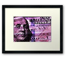 Double exposure finance and government concept Framed Print