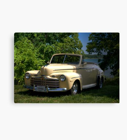 """1946 Ford Convertible """"Back to the Future"""" Canvas Print"""