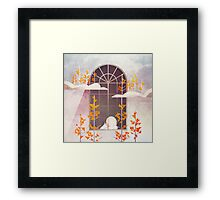 Outside The Window Framed Print