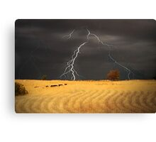 Summer Storm - Mine Road, Kanmantoo, South Australia Canvas Print