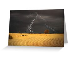 Summer Storm - Mine Road, Kanmantoo, South Australia Greeting Card