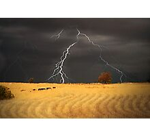 Summer Storm - Mine Road, Kanmantoo, South Australia Photographic Print