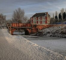 Lime Kiln Bridge in snow by Alex Drozd
