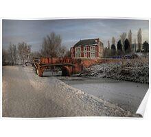 Lime Kiln Bridge in snow Poster
