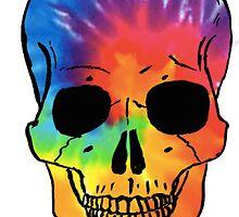 Tie Dye Skull by cdanoff
