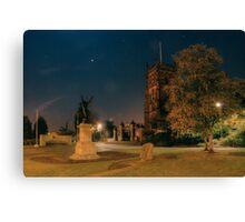 St Mary's Church and war memorial, Kidderminster Canvas Print