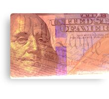 Double exposure finance and government concept Metal Print
