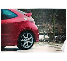 Snowy Honda Poster