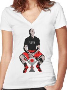 Floyd Mayweather Jr Women's Fitted V-Neck T-Shirt