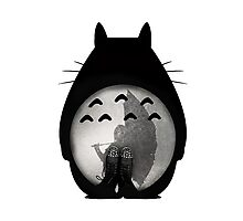 Totoro - Where I Stand #12 (Black Silhouette) Photographic Print