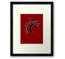 Simple Dragon -Black- Framed Print