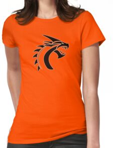 Simple Dragon -Black- Womens Fitted T-Shirt