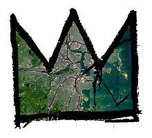 "Basquiat ""King of Boston"" Photographic Print"