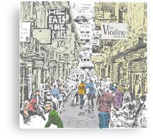 Melbourne city lane-way Canvas Print