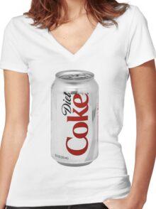 Diet Coke Women's Fitted V-Neck T-Shirt