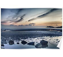 Solway Blues Sunset Poster