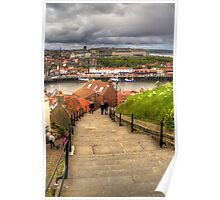 Top of the Whitby Steps Poster