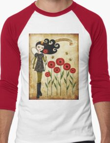Queen Beatrix Men's Baseball ¾ T-Shirt