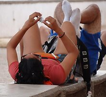 Taking Exercise - Haciendo Ejercicio by Bernhard Matejka