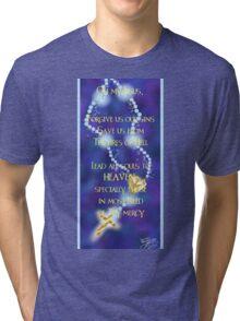 Rosary Prayer Tri-blend T-Shirt