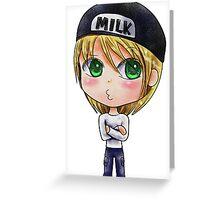 Milk Chibi Greeting Card