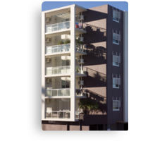Multistory Shadow-Patterned Facade   Canvas Print