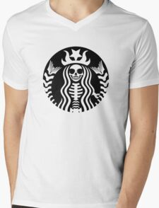 Dead Starbucks Mens V-Neck T-Shirt