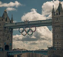 tower bridge 2012 olympics by Adam Glen