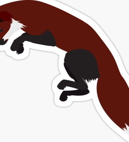 Leaping Fox Sticker