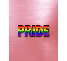 Rainbow PRIDE - Red Photographic Print