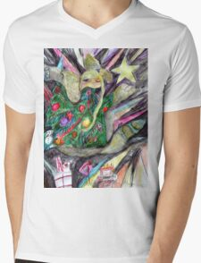 Lucy is Dressed for the Holidays Mens V-Neck T-Shirt