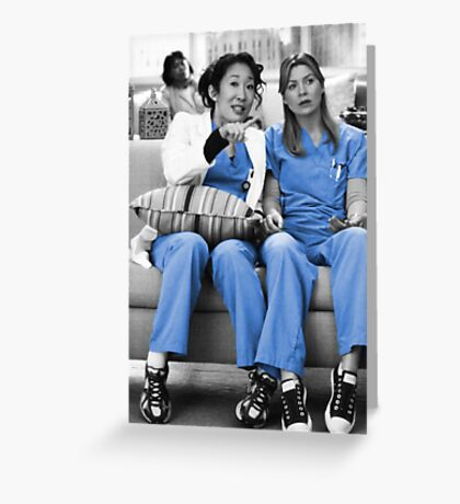 Mer and Cristina - Derm Greeting Card
