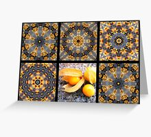 Kaleidoscopes with a tropical flair Greeting Card