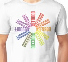 Hex color wheel Unisex T-Shirt