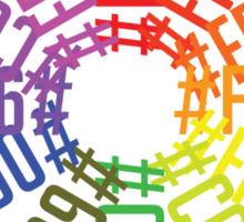Hex color wheel Sticker