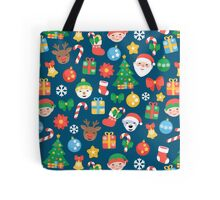 Cheerful Christmas Pattern Tote Bag