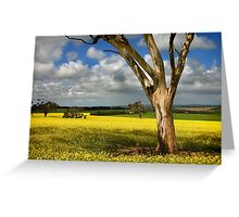 Tree in Canola Field Greeting Card