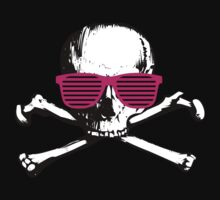 Cool white skull with magenta sunglasses by moonshine and lollipops