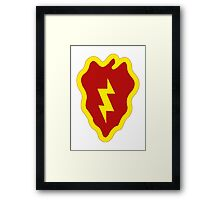 25th Infantry Division Insignia Framed Print