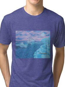 Giants Causeway seascape Tri-blend T-Shirt