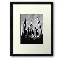 Sacred Heart Cathedral, Bendigo. B&W Framed Print
