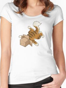 """Cat - """"Cat Box"""" Women's Fitted Scoop T-Shirt"""