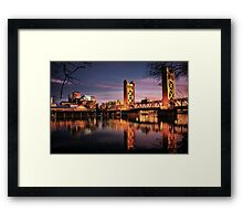 Sacramento Reflections Framed Print