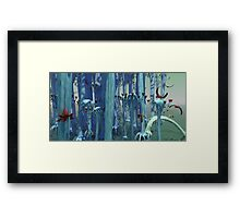 An Alien Forest Framed Print